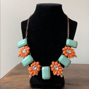 Orange and mint necklace